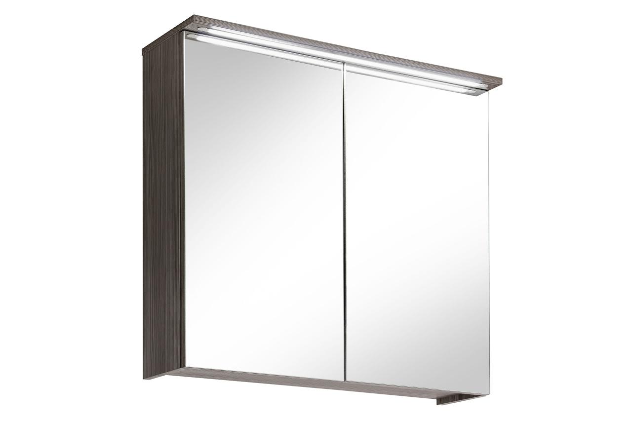 Dulap baie suspendat cu 2 usi si oglinda 80 cm Cosmo II l80xA20xH75 cm