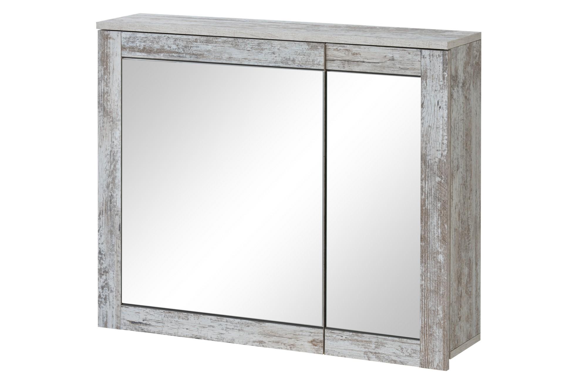 Dulap baie suspendat cu 2 usi si oglinda Provensia 2 l82xA20xH70 cm