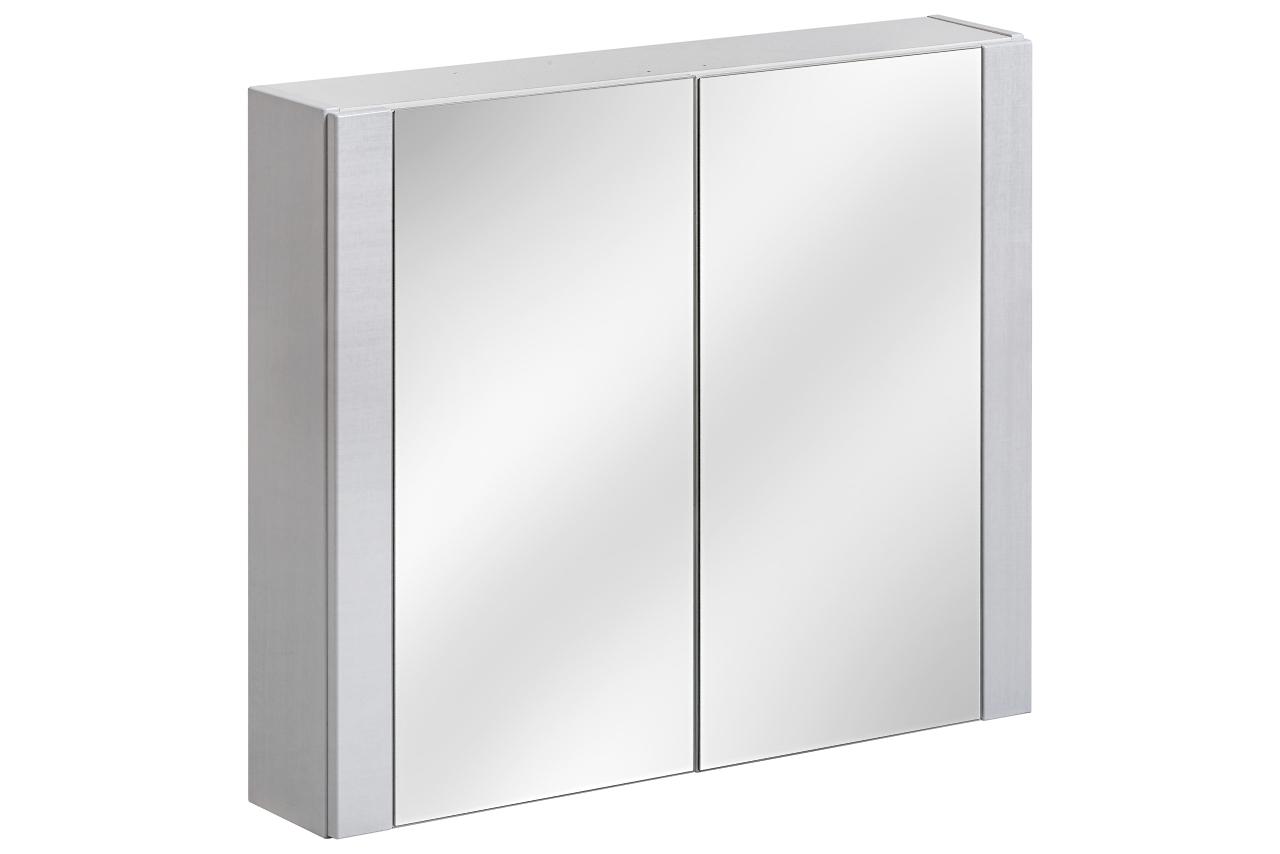 Dulap baie suspendat cu 2 usi si oglinda, Viento Terra, l80xA16xH69 cm imagine