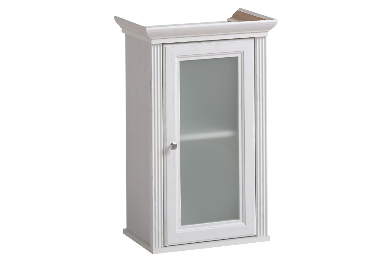 Dulap baie suspendat cu vitrina, 1 usa, Palace Andersen, l48xA33xH76 cm imagine