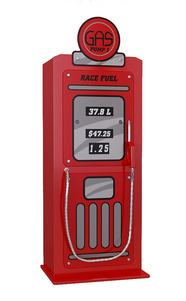 Dulap din MDF cu 1 usa pentru copii Gas Pump Rosu, l50xA40xH141 cm imagine