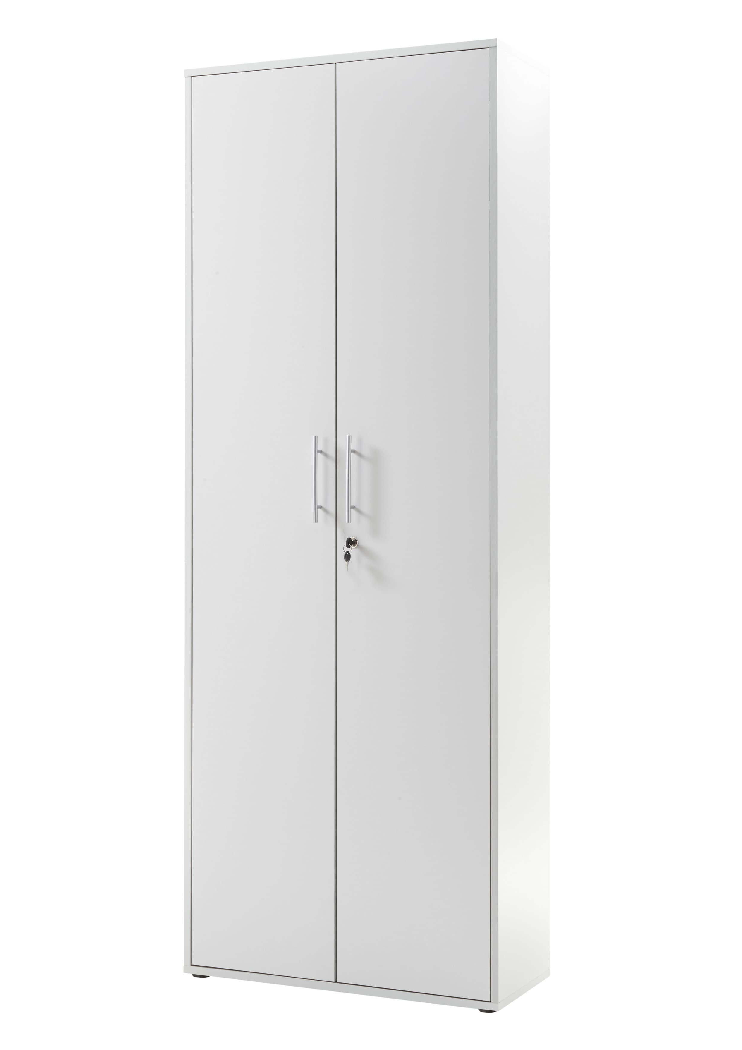 Dulap din pal, cu 2 usi Prato Gri deschis, l80xA35xH216 cm
