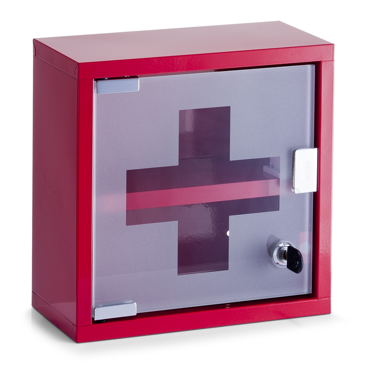 Dulap pentru medicamente, Metal Red, l25xA12xH25 cm imagine