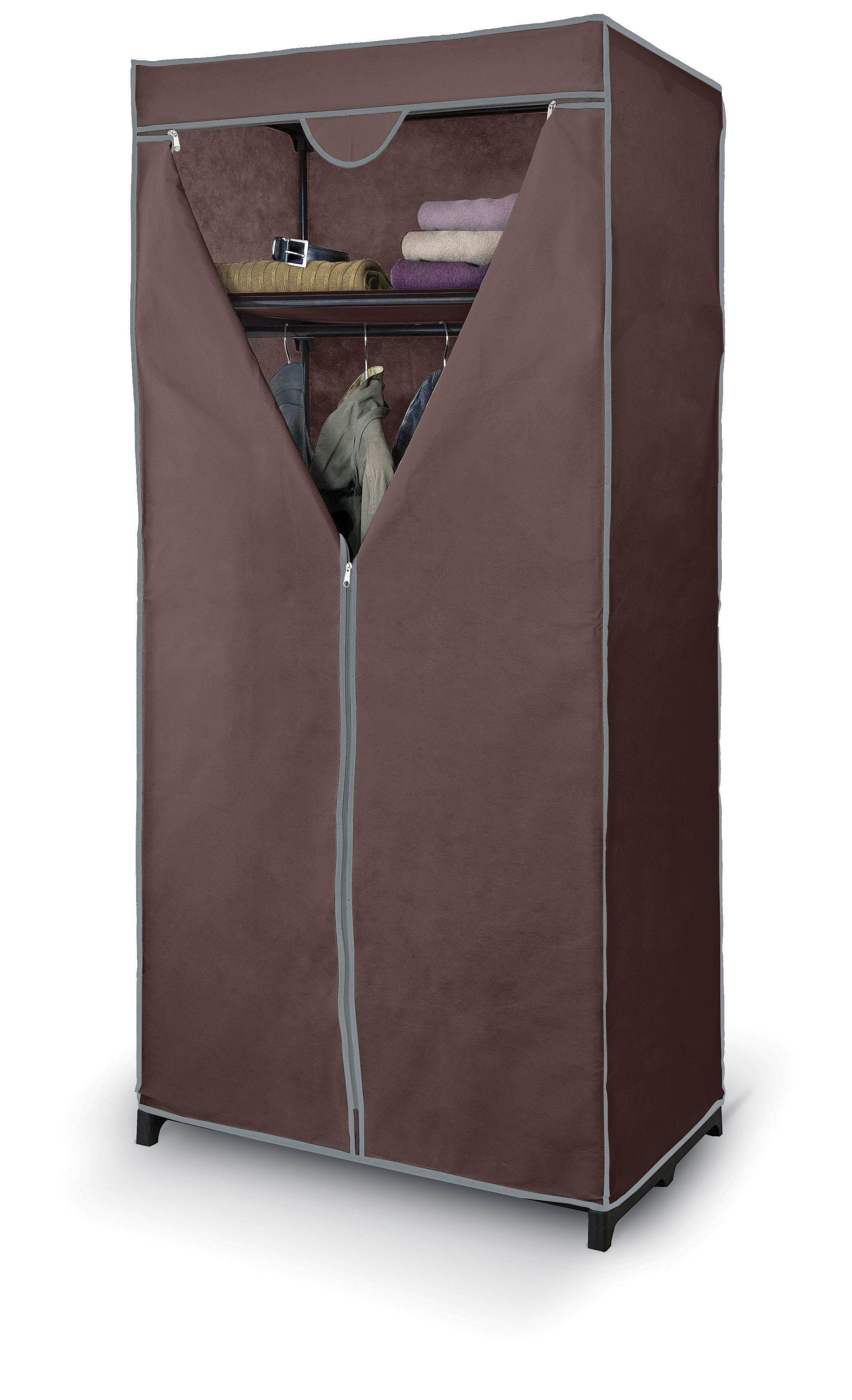 Dulap textil cu fermoar si cadru metalic, Artemis II Maro, l75xA50xH160 cm imagine