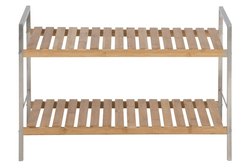 Raft din metal si lemn de bambus Dune Natural l71xA33xH476 cm