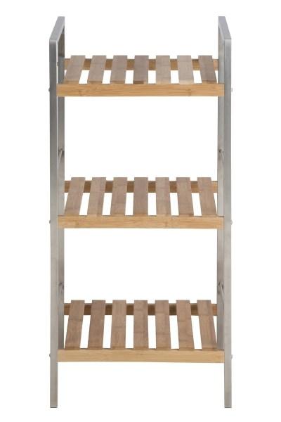 Raft din metal si lemn de bambus Dune Natural l355xA33xH749 cm