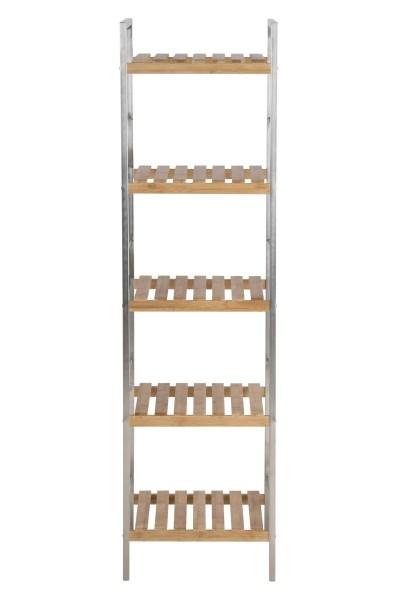 Raft din metal si lemn de bambus Dune, L35,5xl33xh129,5 cm