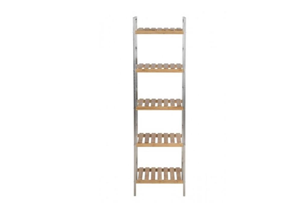 Raft din metal si lemn de bambus Dune Natural l355xA33xH1295 cm