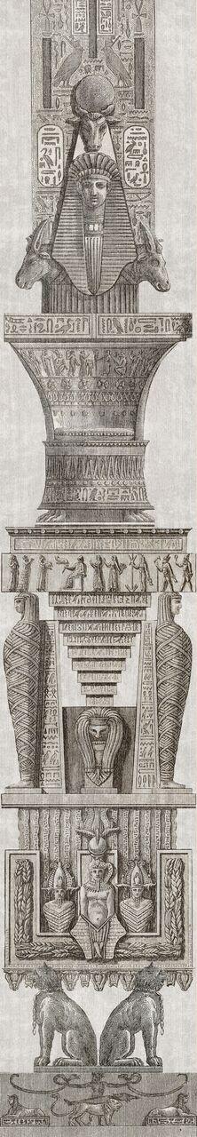 Set 3 role Tapet Imprimat Digital Egyptian Columns