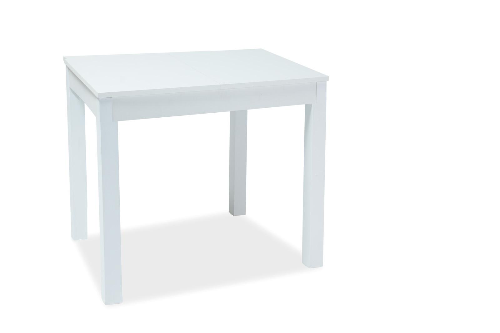 Masa extensibila din pal Eldo White, L80-160xl80xh75 cm