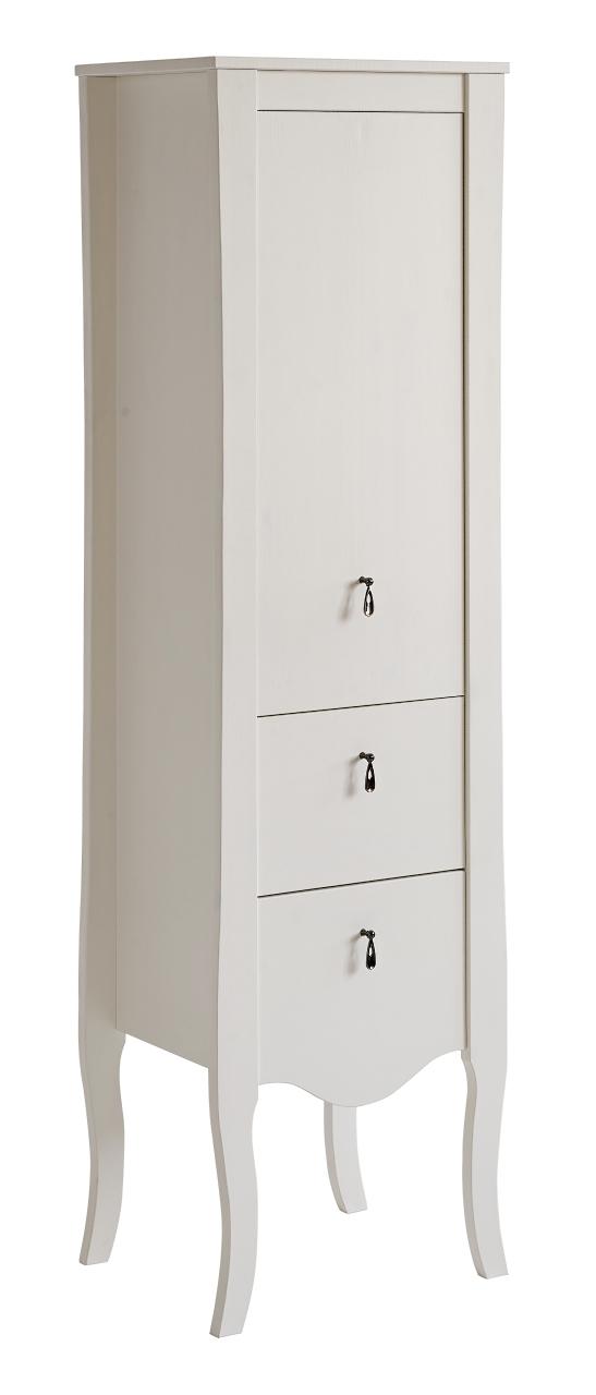 Dulap baie inalt 1 usa si 2 sertare Elisabeth l45xA35xH155 cm