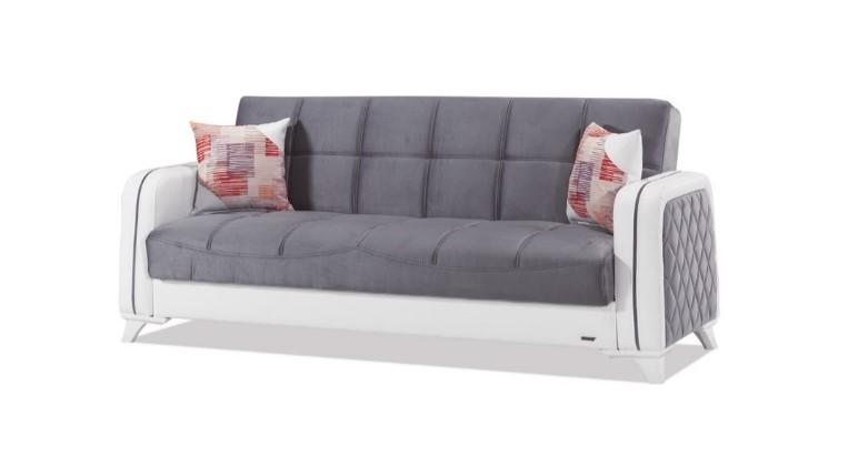 Canapea extensibila 3 locuri Elite Grey K4