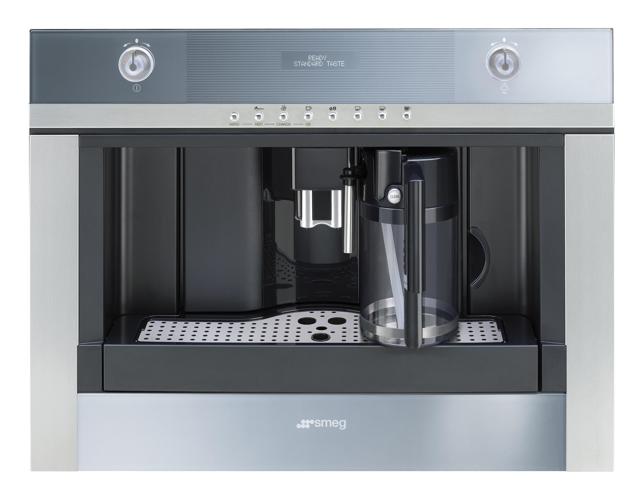 Espressor incorporabil automat CMSC451 Sticla Stopsol Silver 60x45 cm Linea SMEG