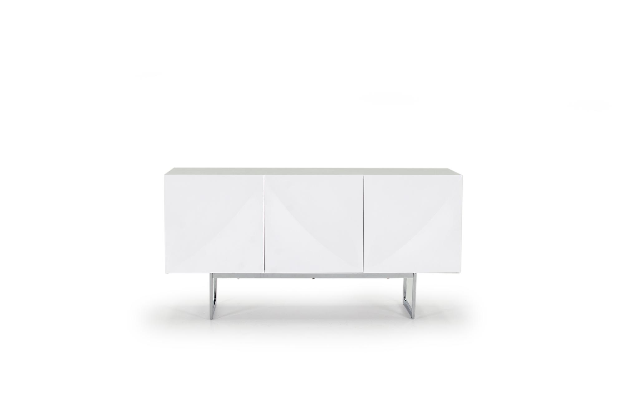Comoda din MDF Essence White l150xA455xH75 cm