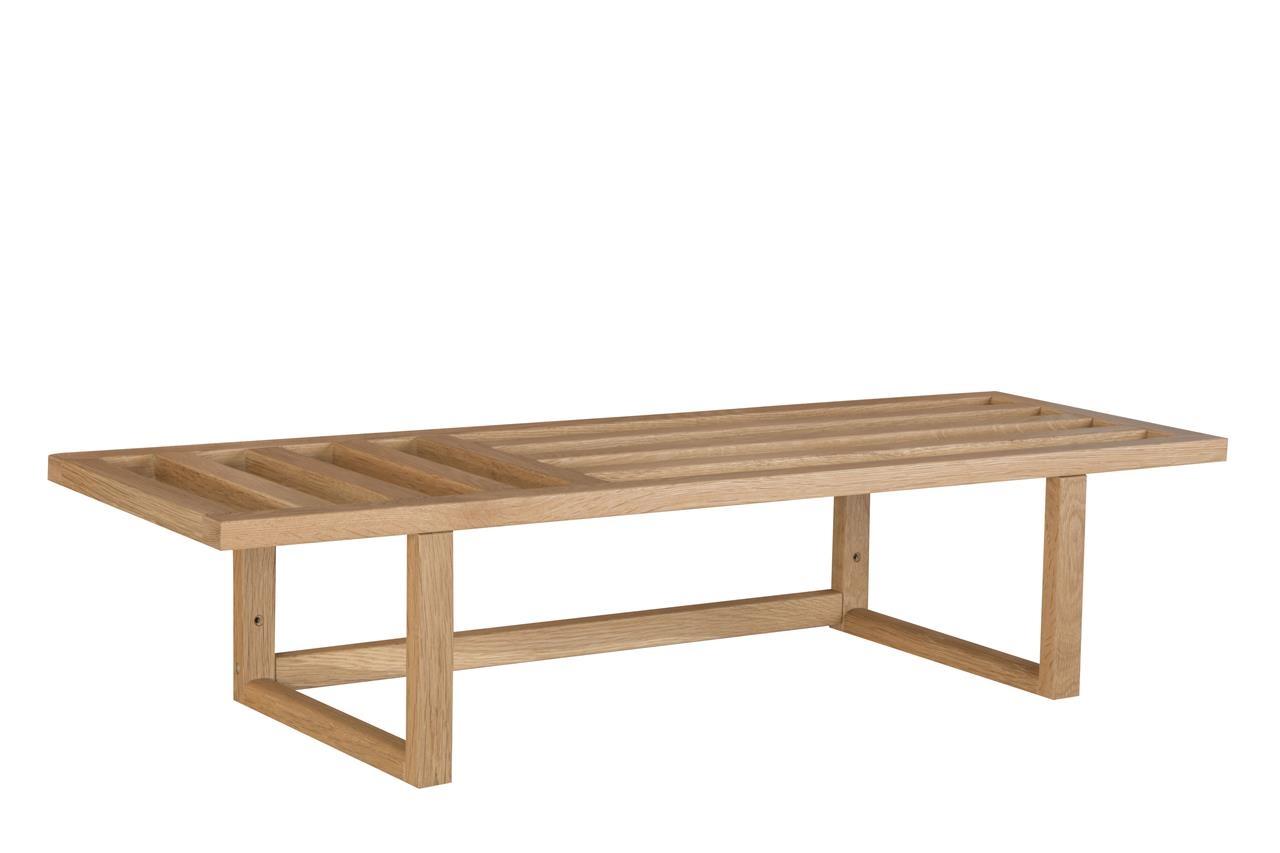 Etajera din lemn Cavan Stejar, l90xA30xH20 cm imagine