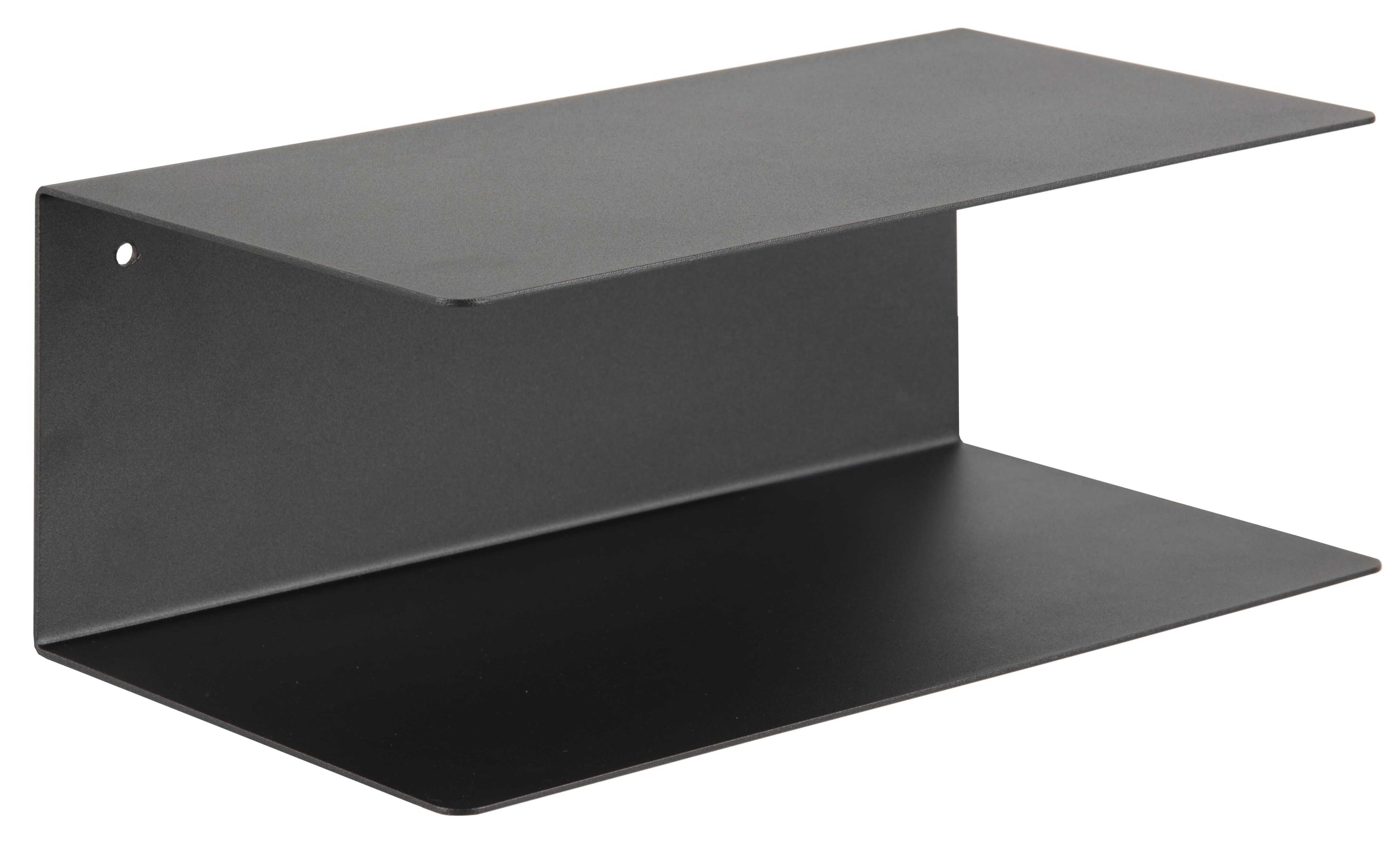 Etajera suspendata din metal Joliet Negru, l35xA20xH14 cm somproduct.ro
