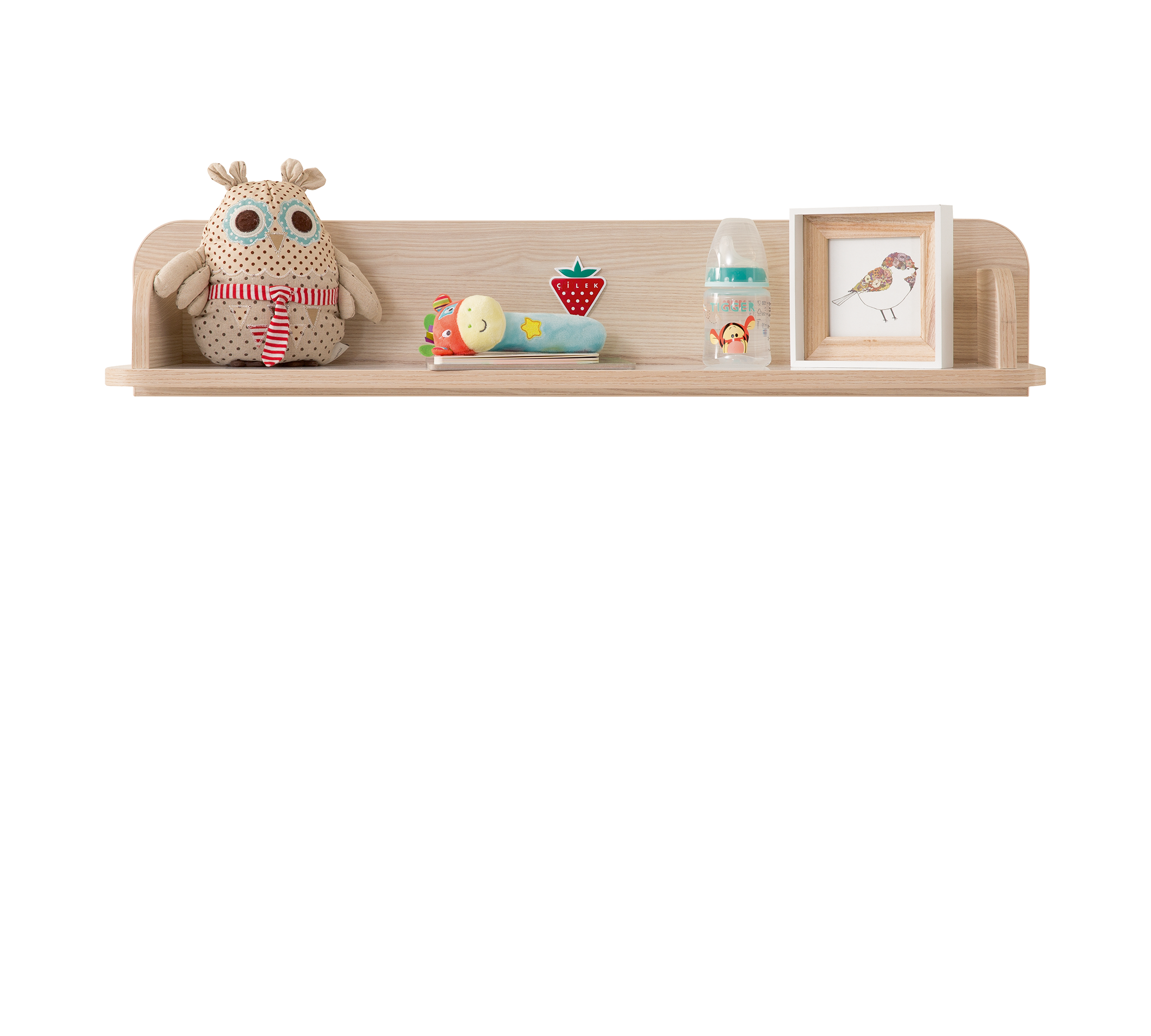 Etajera din pal, pentru bebe Montessori Baby Natural, l86xA18xH17 cm imagine