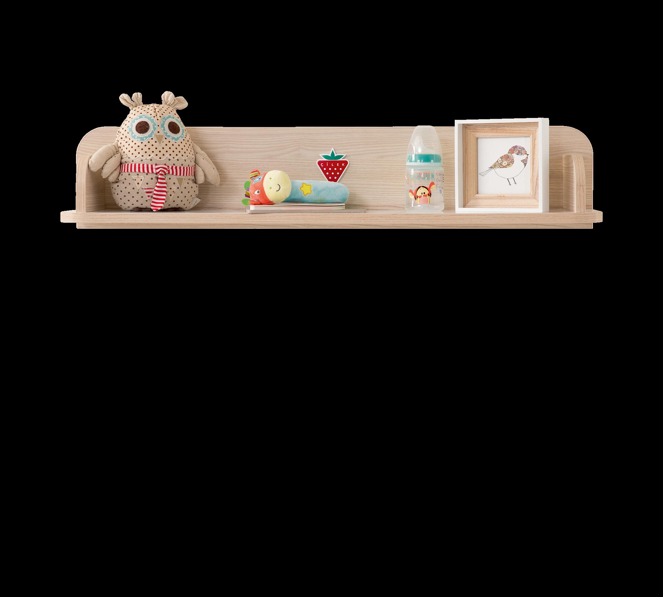 Etajera din pal, pentru bebe Montessori Baby Natural, l86xA18xH17 cm