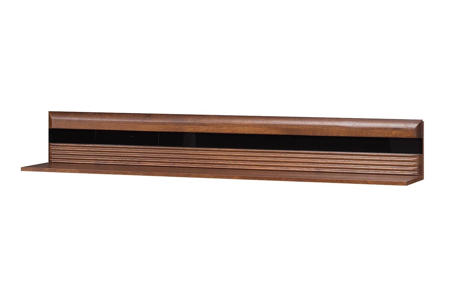 Etajera suspendata din pal Porti 35 Stejar Antic, l160xA25xH23 cm imagine