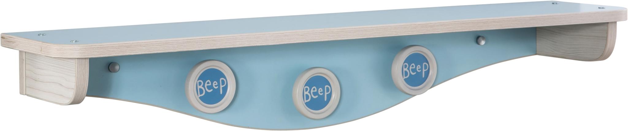Etajera din pal pentru bebe Baby Boy Light Blue / Nature l86xA18xH15 cm