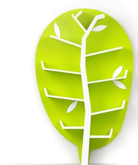 Etajera pentru copii din MDF Wood Lime/White L118xl24xh175 cm
