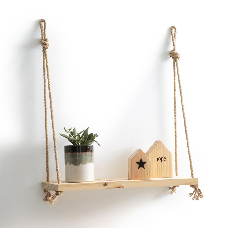 Etajera suspendata din lemn A102 Stejar, l40xA13xH1,6 cm