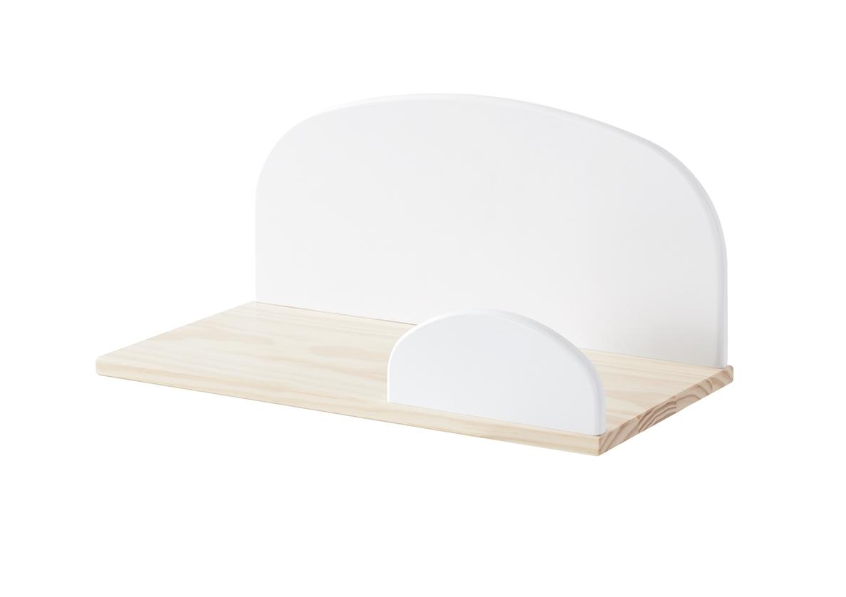 Etajera suspendata din lemn de pin si MDF, pentru copii Kiddy Small Alb, l45xA25xH21,4 cm somproduct.ro