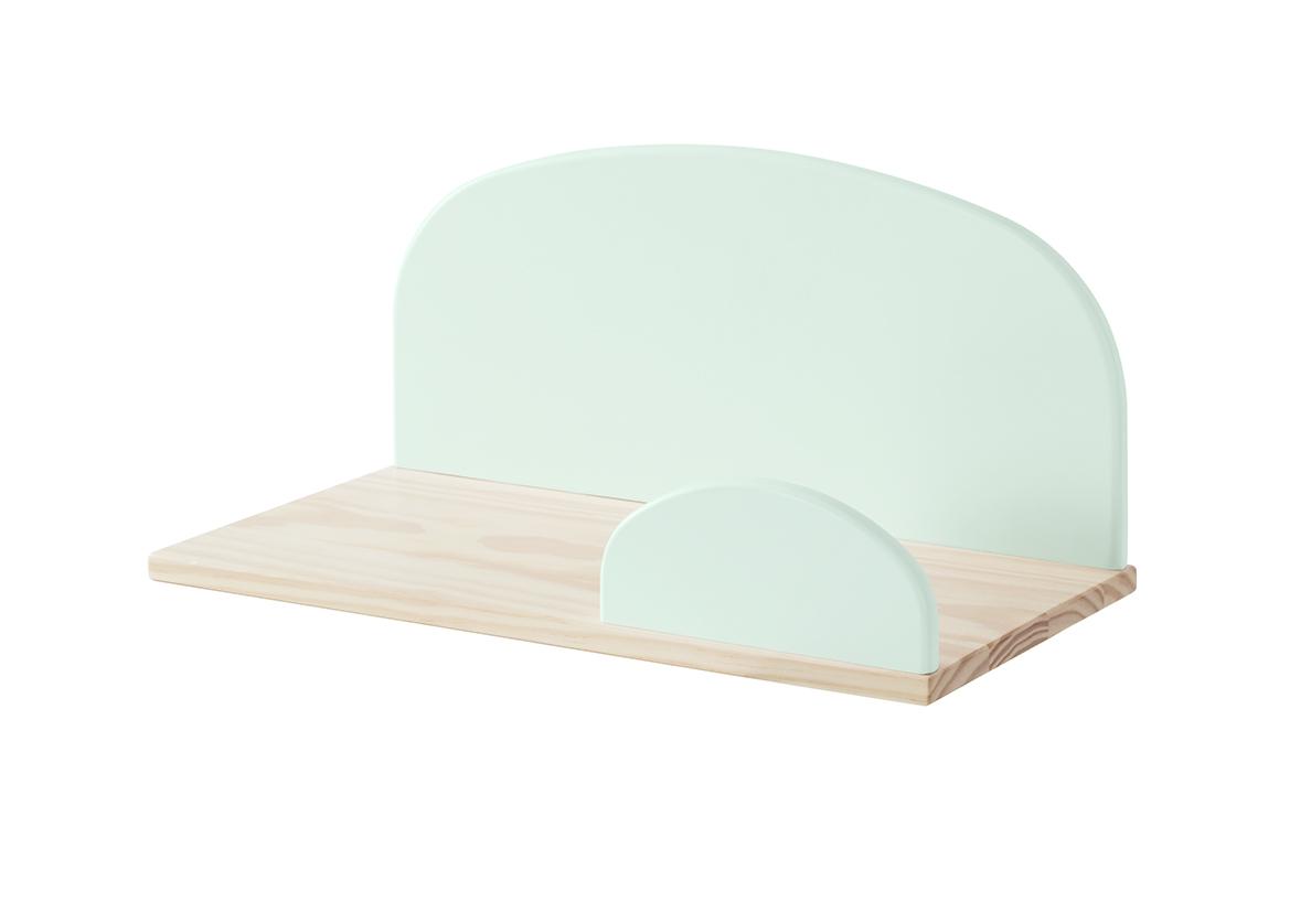 Etajera suspendata din lemn de pin si MDF, pentru copii Kiddy Small Verde Mint, l45xA25xH21,4 cm imagine