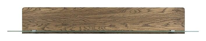 Etajera suspendata din lemn si sticla Negro Large 35 Oak l163xA25xH23 cm