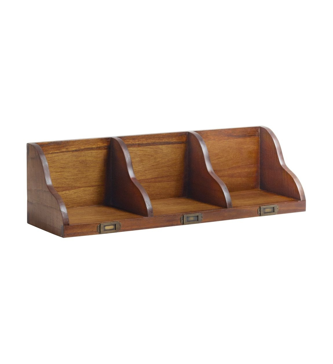 Etajera suspendata din lemn Star Nuc, l70xA20xH20 cm