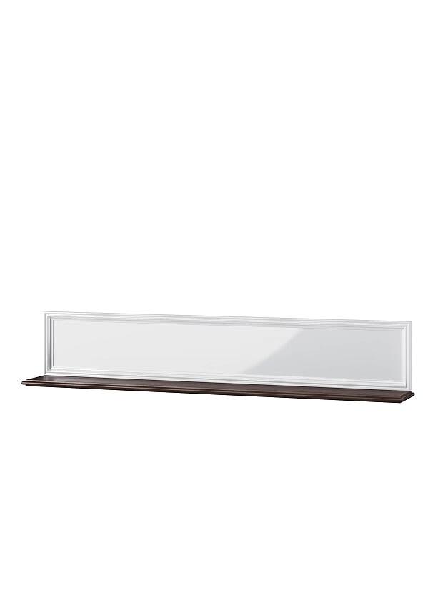 Etajera suspendata din MDF si furnir Massimo 35 White / Mocha l168xA23xH31 cm