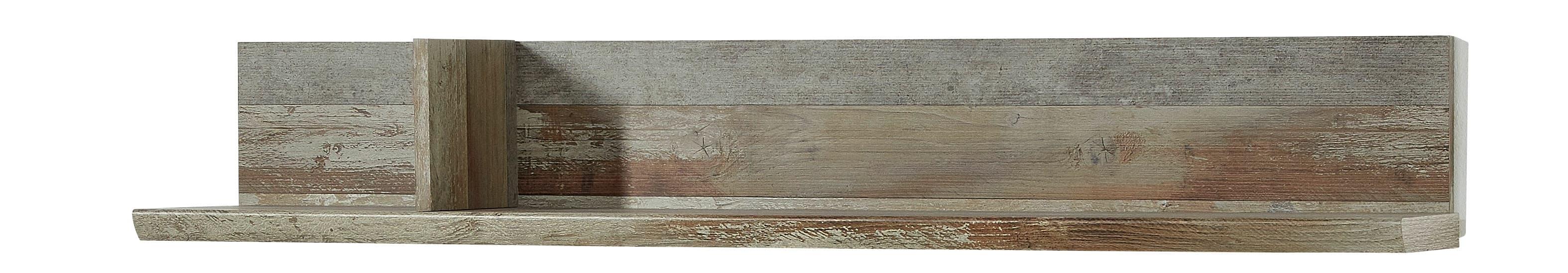 Etajera suspendata din pal Bazna Natur / Gri inchis, l130xA22xH20 cm somproduct.ro