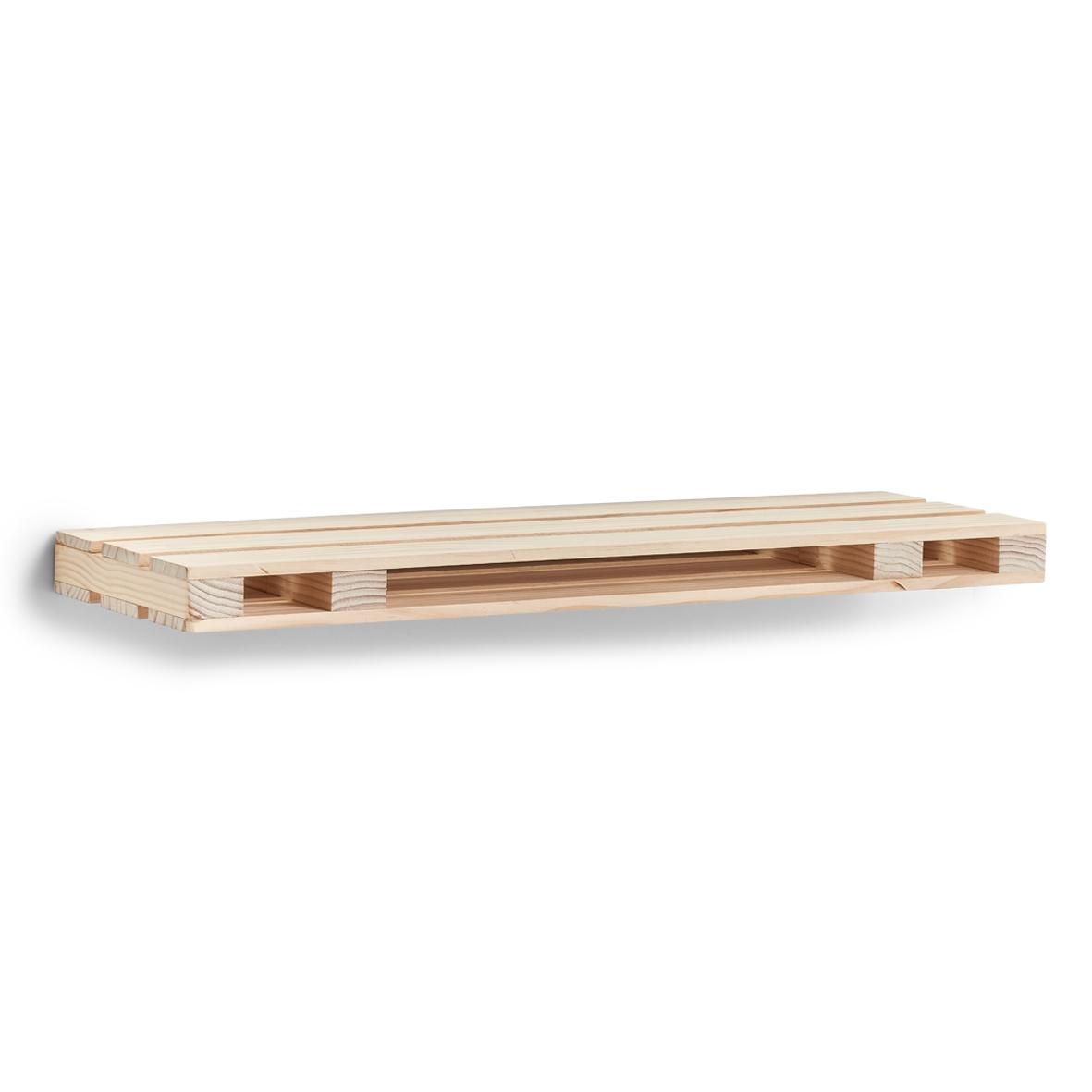 Etajera universala din lemn de pin Palette Natural, L80xl23,5xH5 cm imagine