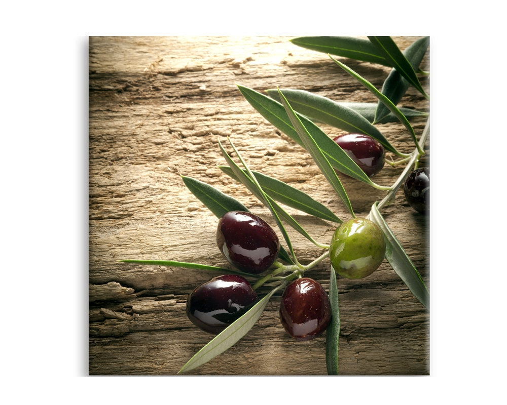 Tablou Sticla Glasspik Olives 4, 30x30 cm imagine