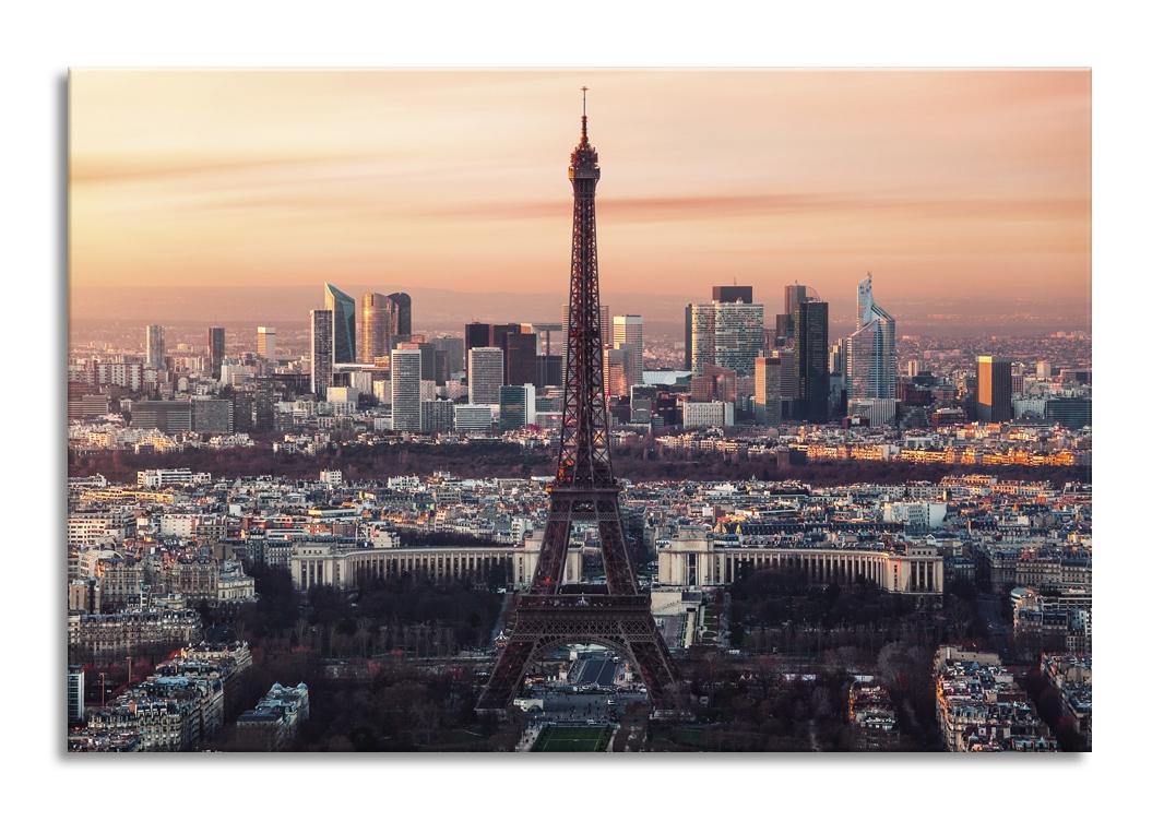 Tablou Sticla Glasspik Eiffel Tower 80x120 cm