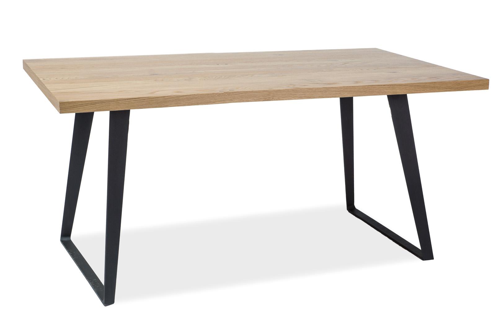 Masa din metal si lemn de stejar Falcon Dab, L150xl90xh78 cm imagine