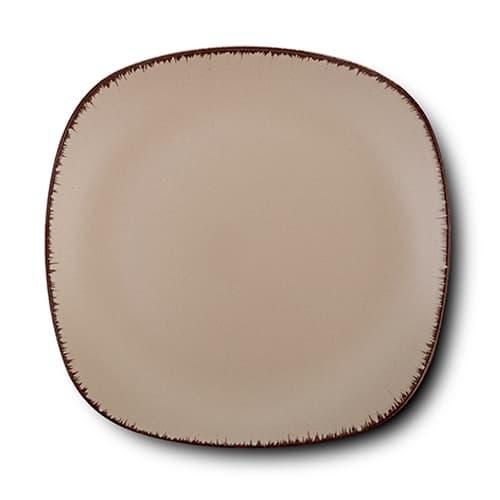 Farfurie desert din ceramica, Brown Sugar Maro, 19 cm somproduct.ro