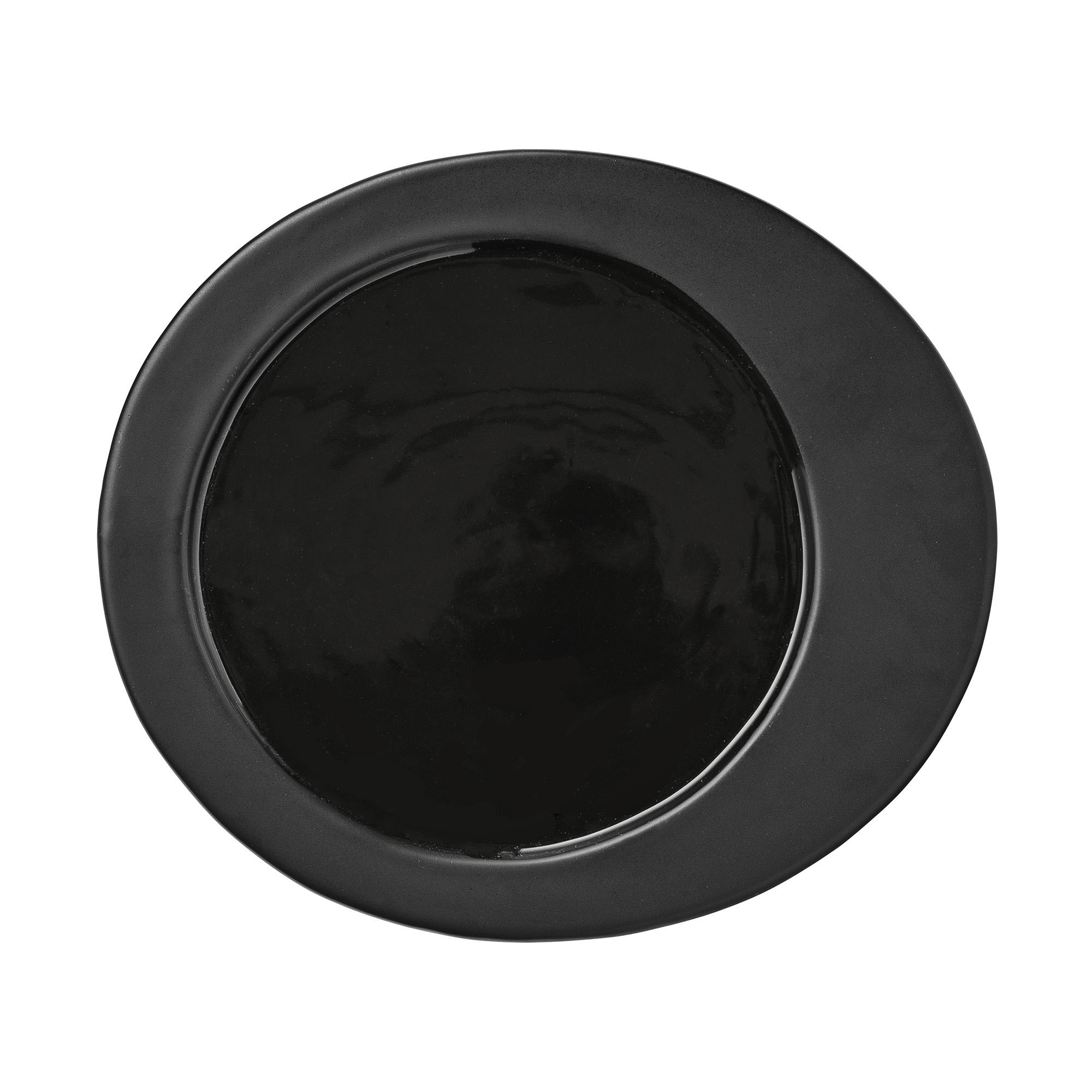 Farfurie Gitte Black Ceramica O20 cm