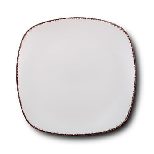 Farfurie intinsa din ceramica, White Sugar Alb, 26 cm somproduct.ro