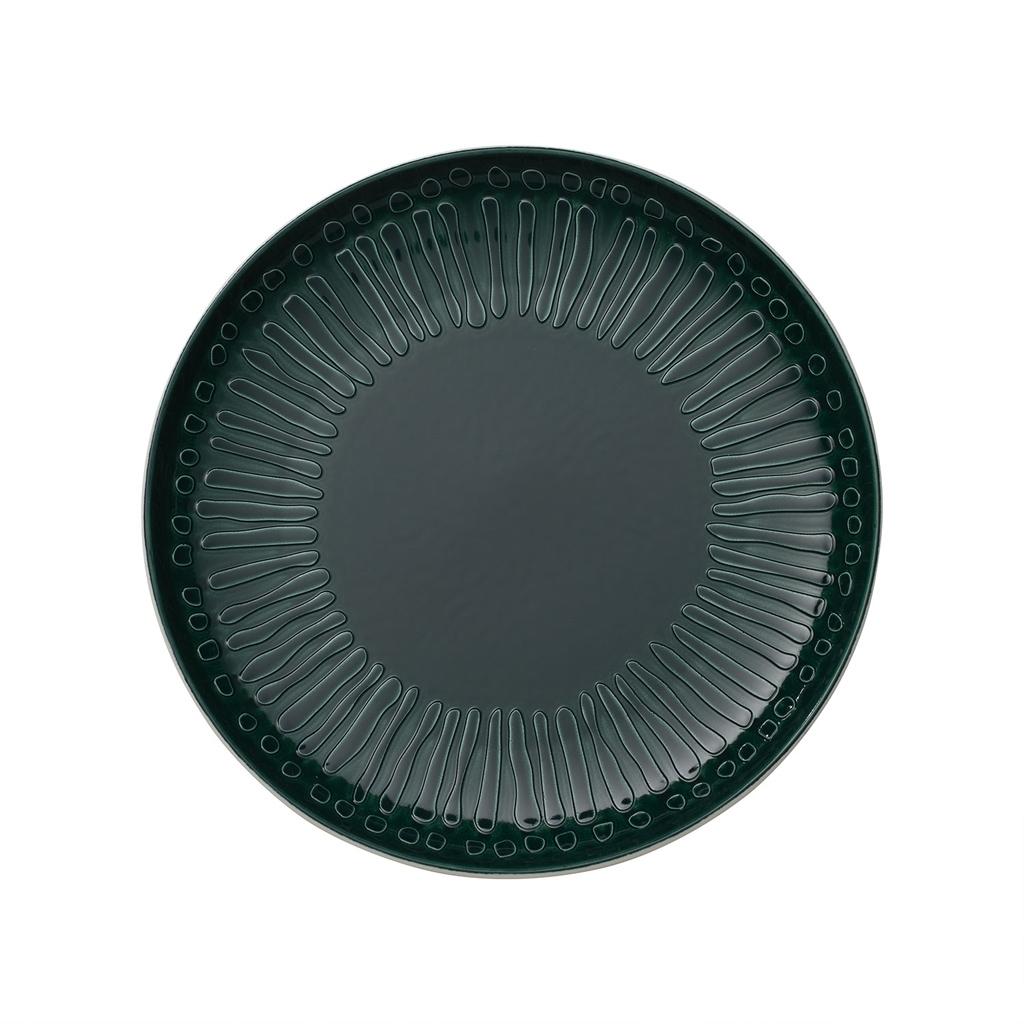 Farfurie intinsa din portelan, It's my Match Blossom Alb / Verde, 24 cm, Villeroy & Boch somproduct.ro