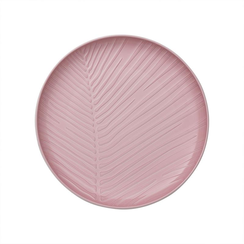 Farfurie intinsa din portelan, It's my Match Leaf Alb / Roz, 24 cm, Villeroy & Boch somproduct.ro
