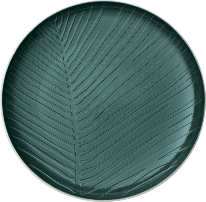 Farfurie intinsa din portelan, It's my Match Leaf Alb / Verde, 24 cm, Villeroy & Boch imagine