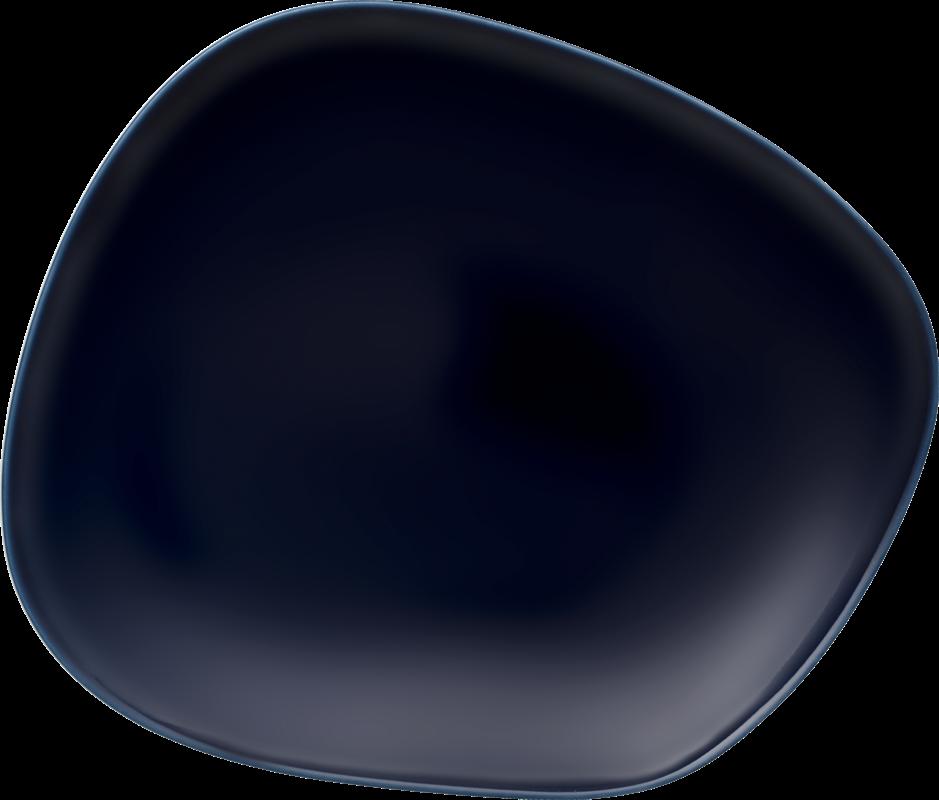 Farfurie intinsa din portelan, Organic Bleumarin, 28 cm, Villeroy & Boch somproduct.ro