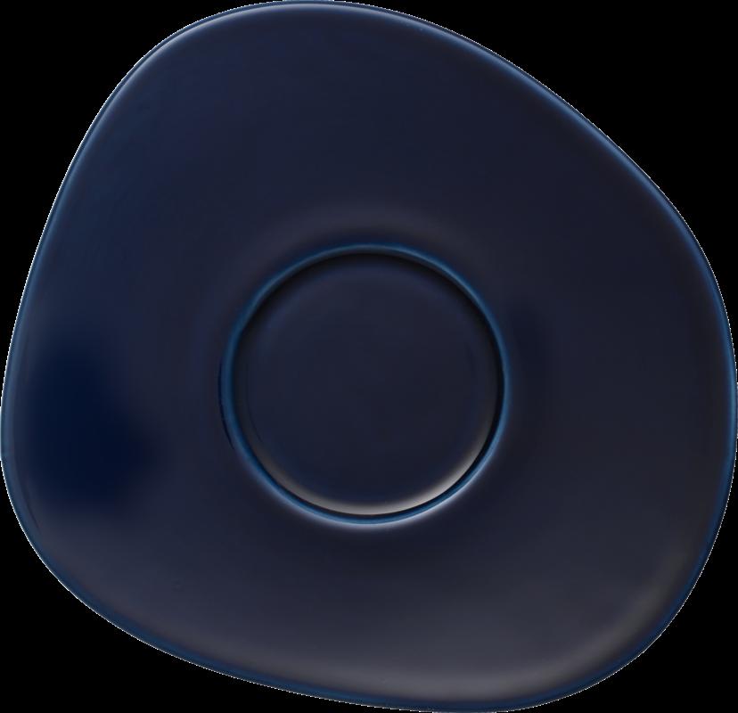 Farfurioara ceasca cafea din portelan, Organic Bleumarin, 17,5 cm, Villeroy & Boch imagine