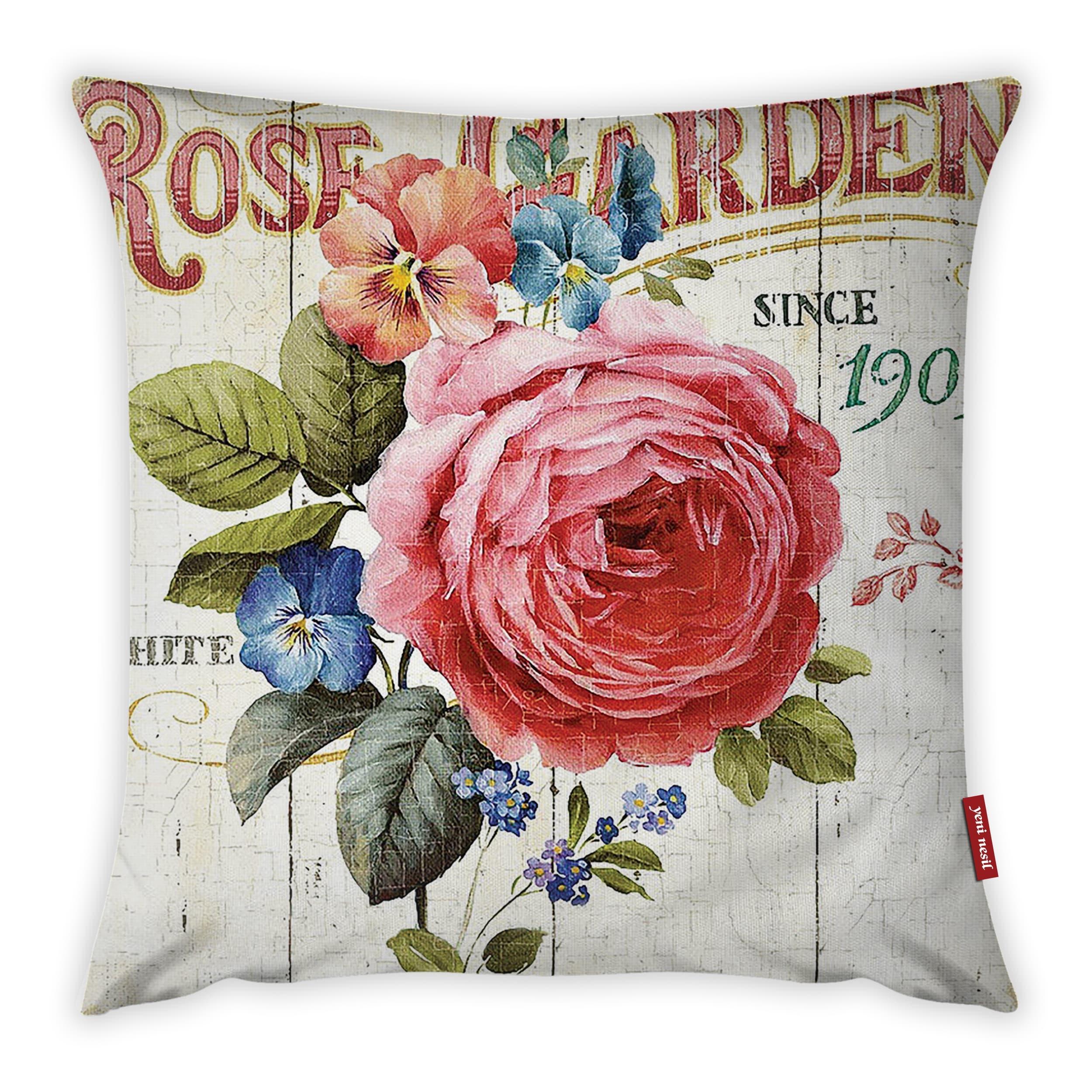 Fata de perna Roses Garden YK1068 Multicolor, 42 x 42 cm