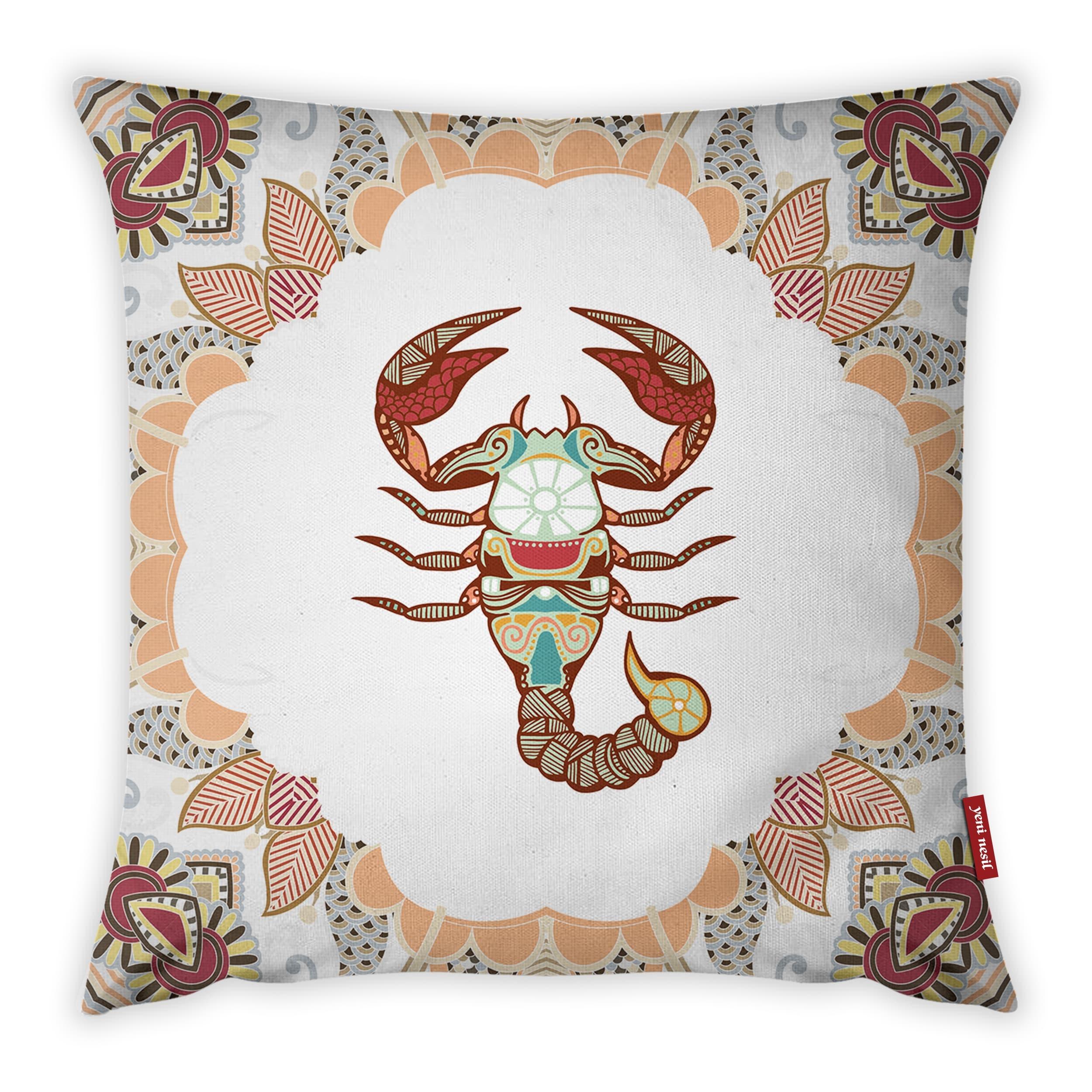 Fata de perna Zodiac Scorpion YK1670 Multicolor, 42 x 42 cm