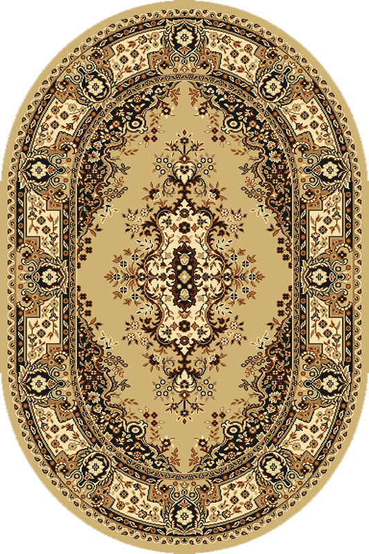 Covor Fatima Beige Oval, Wilton imagine
