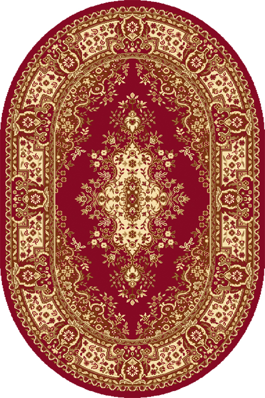 Covor Fatima Dark Red Oval, Wilton