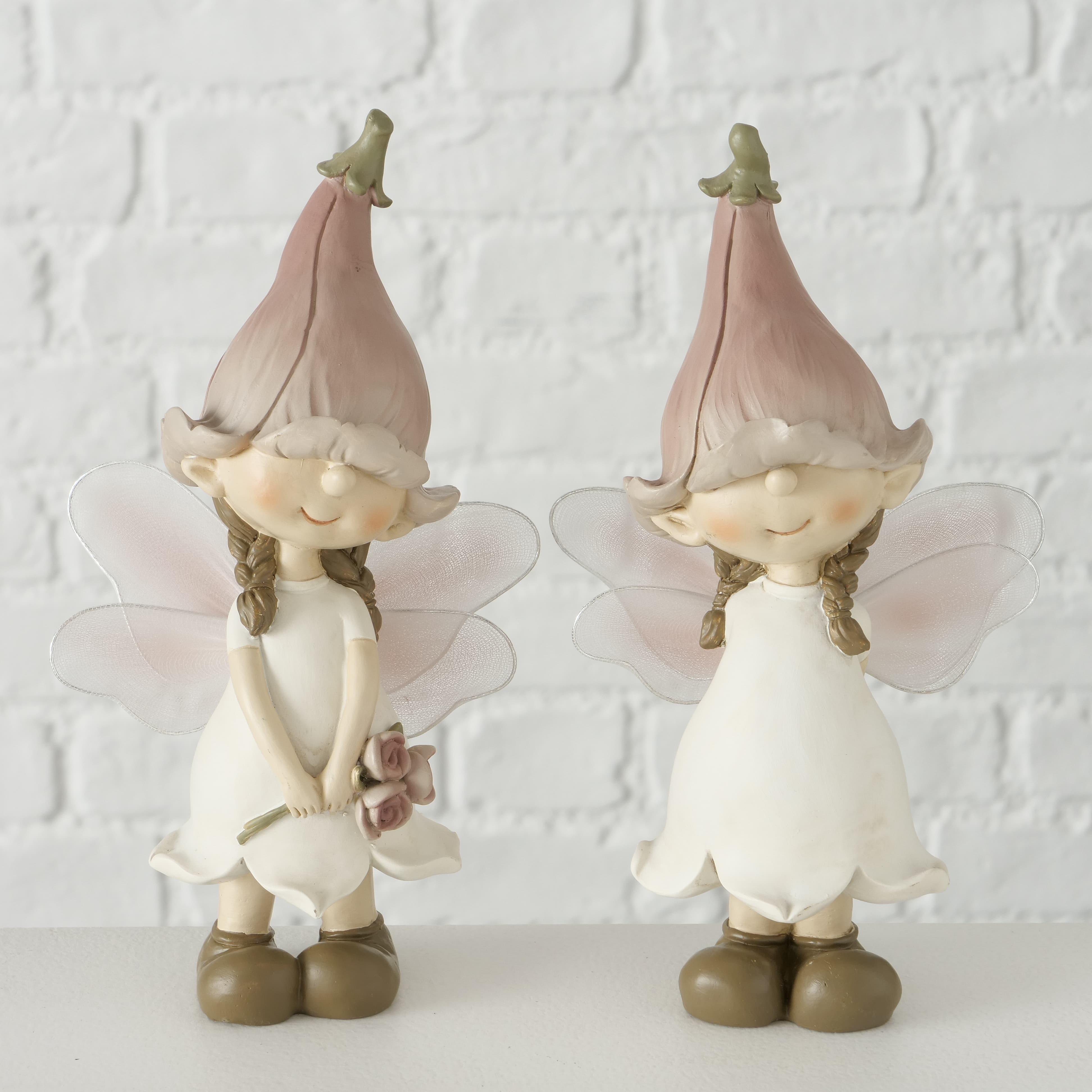 Figurina decorativa din polirasina Fajona Elf Multicolor, Modele Asortate, l12xA7xH19 cm