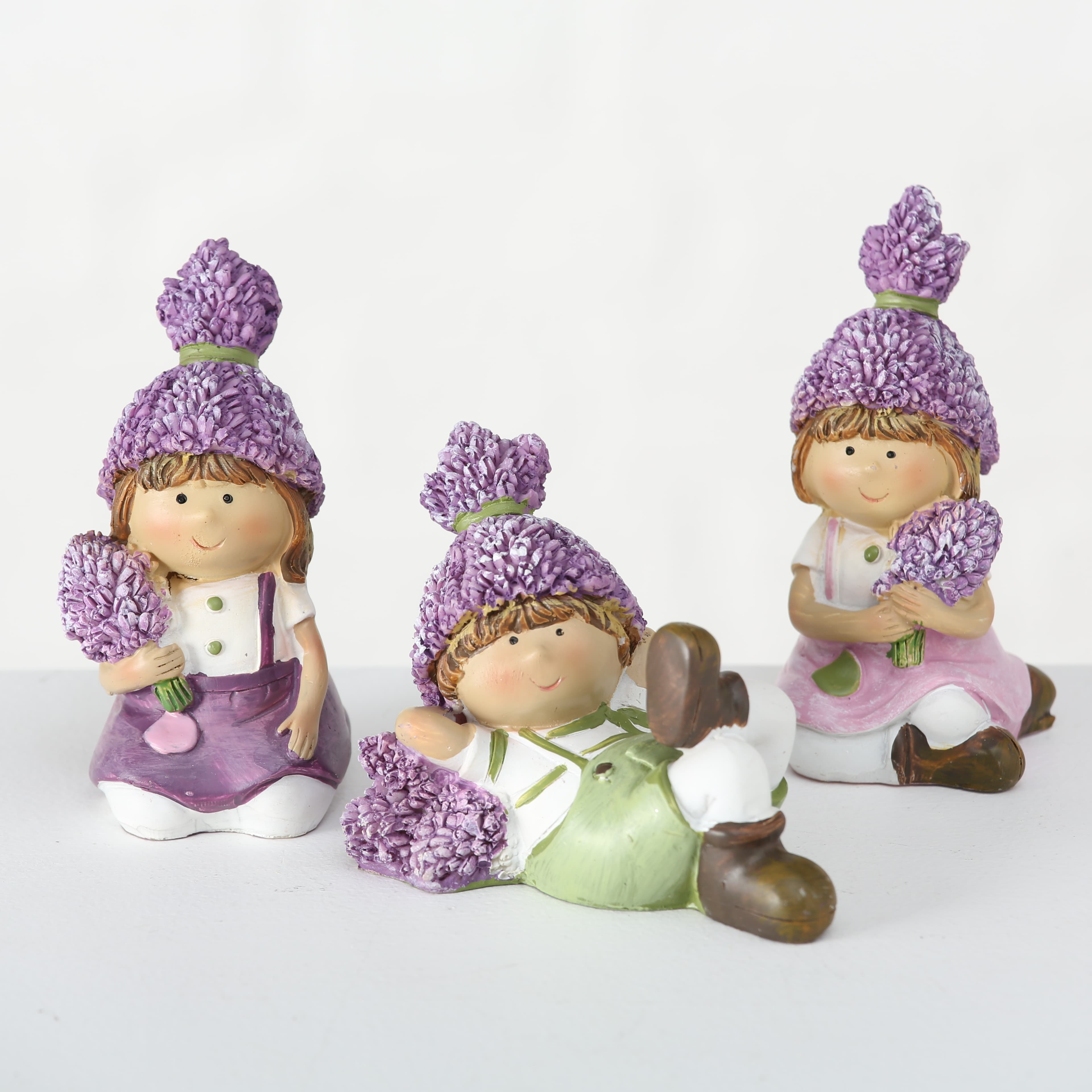 Figurina decorativa din polirasina Lavender II Multicolor, Modele Asortate, l6xA6xH10 cm poza